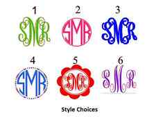 "8"" Diy Iron On Glitter Vinyl Monogram, Pick your Color and Style"