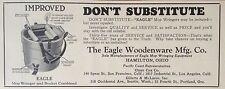 VINTAGE 1930 AD(F18)~THE EAGLE WOODENWARE MFG. CO. WRINGER & BUCKET, HAMILTON, O
