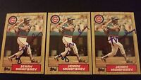 Jerry Mumphrey Cubs 1987 Topps #372 Yankees Signed Authentic Autograph JA15