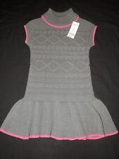 """NWT Gymboree """"Lovable Giraffe"""" Gray Cable Sweater Dress Size 5"""