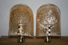 Wall Lamp Ice Glass Barovier  Kalmar Ära  Iceglass Eisglas Murano wandlampe