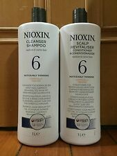 Nioxin System 6 Shampoo and Conditioner 1000ml / 33.8oz (Chemically)