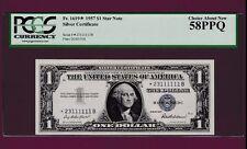 Fr.1619*  PCGS   $1  1957  STAR FANCY SN * 23111111 B  SILVER CERTIFICATE NOTE