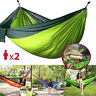 Portable Two Person Nylon Rope Hanging Hammock Swing Fabric Camping Outdoor Bed