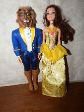 Belle Beauty & Beast transforming Barbie doll set playset Disney Princess figure