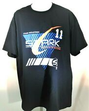 "Iron Man Tony Stark ""Stark Industries"" T Shirt 2Xl Motor Racing Marvel Comics"