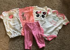 Carter's Size 3 Months Baby Girl Bodysuit And Pants Lot