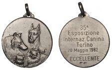 ITALIA TORINO Medaglia 35a Esposizione Internazionale Canina 20 maggio 1962