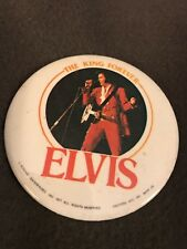 """ELVIS """" THE KING FOREVER""""  - 3"""" PINBACK  COOL GRAPHICS"""