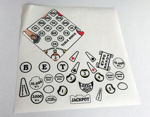 Williams JOKERZ! JOKERZ Pinball Machine Insert Decals LICENSED