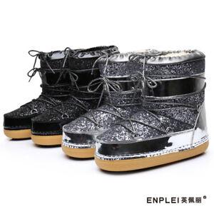 Des femmes cheville bottes lacets filles enfants Moon Boots Snowboard