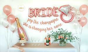 Rose Gold Bachelorette Party Decorations Kit Bridal Shower Balloons Supplies