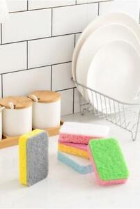 Biodegradable Compostable Kitchen Surface Pot Pan Sponge Scourer Eco Friendly