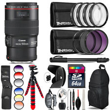Canon EF 100mm 2.8L IS USM Lens + Graduated Color Filter - 64GB Accessory Kit