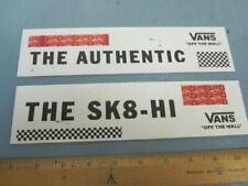 VANS skateboard surf Authentic/SK8-HI heavy plastic display signs Flawless New
