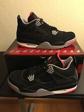 New 2008 CDP Collezione Package Retro Air Jordan 4 IV Bred Size 9.5