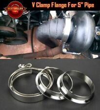 """T304 Stainless Steel V Band Clamp Flange Assembly For  BMW 5"""" OD Exhaust Pipe"""