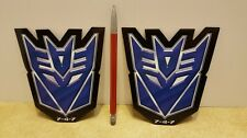 "DECEPTICON Lot of 2 Transformers G1 Logo Car/Refrigerator Magnets 5"""