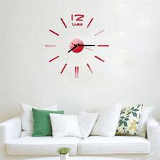 3D Wanduhr Uhr zum kleben modern Home Decor rot Design Wandtattoo