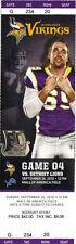 Detroit Lions vs Minnesota Vikings Ticket Stub 9/26/2010 - A. PETERSON 80-yrd TD
