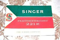 Super Clean Instructions Manual CD for Singer Featherweight 221K Sewing Machine.