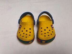 Childrens Shoes Crocs Lego Yellow Size UK 6-7 CROCS