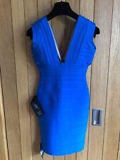 Herve Leger Joanne Dress in Deep Ocean Blue, BNWT & Receipt From MyTheresa, XS