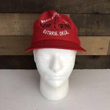 Vintage Magic Bait Company Oklahoma 1970s Red Hat Advertisement Trucker Rare