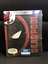 Deadpool Blu-Ray + DVD + Digital HD Steelbook Exclusive New Sealed Marvel