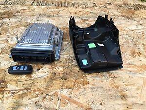 BMW F10 74K 550I XDRIVE 4.4L TWIN TURBO ENGINE KEY MODULE COMPUTER DME SET OEM