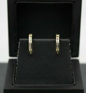 9ct Yellow Gold Diamond Huggie Earrings