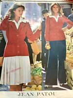 Vogue Sewing Pattern 2850 Paris Original Jean Patou Jacket Skirt Pants Blouse 8