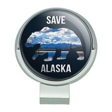 Save Alaska with Bear Mountains Water Golf Hat Clip With Magnetic Ball Marker