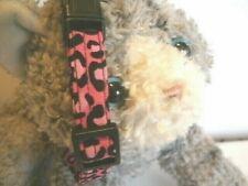 Fabric Cat Collar Handmade, Breakaway Buckle - Hot Pink Cheetah.Wild Kitty!