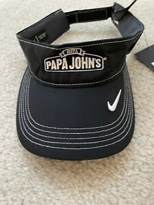 New Papa Johns Nike Dri-Fit Swoosh Cap, Adjustable Women Hat Golf Visor black