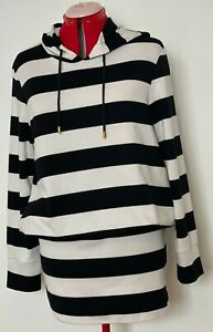 CHARLIE BROWN Size 14 Black and White Striped Jumper Dress