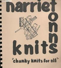 Harriet Tonns CHUNKY KNITS FOR ALL Knitting Machine Pattern Childs 3 to Mens 46