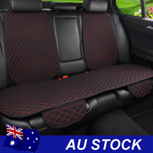 Black Flax Red Line Car Rear Seat Cover Cushion Mat Protector Pad with Backrest