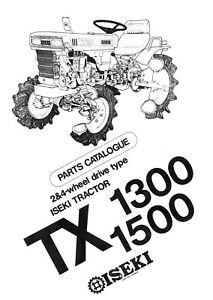 Iseki Tractor 1300 & 1500 2&4 Wheel Drive Service Parts Manual
