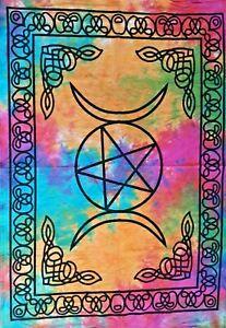 Tapestry Tie Dye Triple Moon Dorm Decor Throw Star Mandala Wall Hanging Poster
