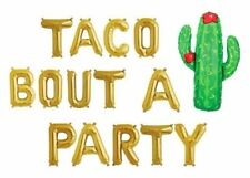 "TACO BOUT A PARTY Letter Balloons - Cactus Balloon - 16"" Letter Balloons-US SHIP"