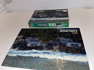Bigfoot 2 creek river Monster Truck Puzzle COMPLETE w box Milton Bradley