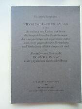 Physikalische Atlas Sammlung Karten anorganischen organischen Natur Verbreitung