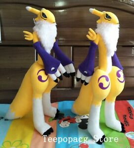 19.5'' Digital Monster Digimon Renamon Stuffed Plush Doll Handmade Toy