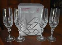 LOVELY S/4 ZWIESEL GERMANY FULL LEAD CRYSTAL GARDONE TALL CHAMPAGNE FLUTES - MIB