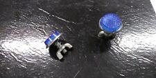 2 New Blue Metal Backed Muscle Bike Reflectors fits Schwinn Stingray Bicycle