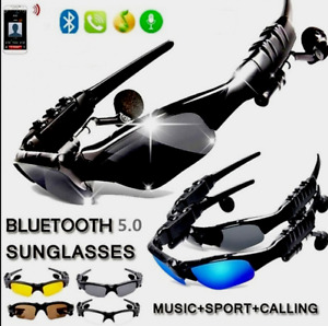 Sunglasses Smart Wireless Bluetooth Polarized Sport  With Headphone Earbuds