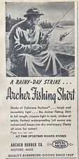 1947 AD.(XH2)~ARCHER RUBBER CO. MILFORD, MASS. ARCHER FISHING SHIRT