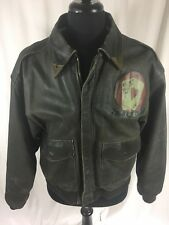 Vintage Cooper A-2 Jacket Brown Distressed Leather Flight Bomber Mens XL 42