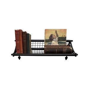 Bronze Train Luggage Rack Vintage Style Bathroom Hall Book Towel Shelf